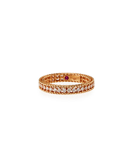 Symphony Collection 18K Princess Diamond Band Ring, Size 6.5