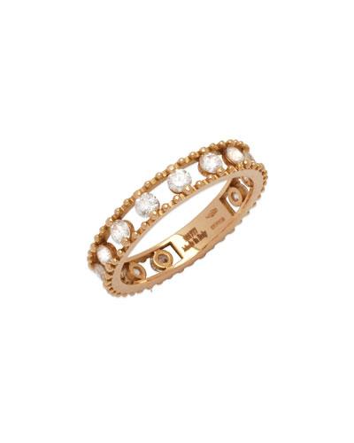 18k Rose Gold Allegra Diamond Happy Band Ring