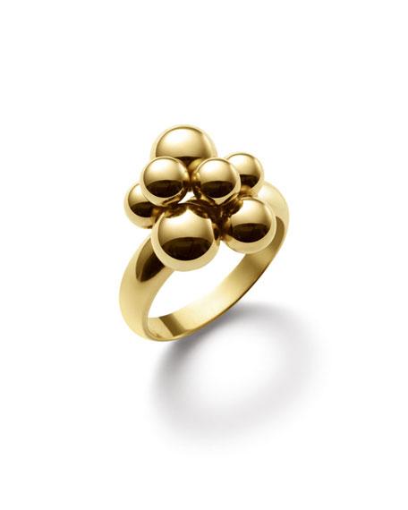 Mini Atomo 18k Gold Ring, Size 7.5