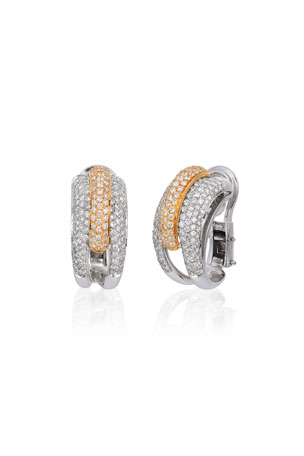 Andreoli 18k 2-Tone Gold Diamond Earrings