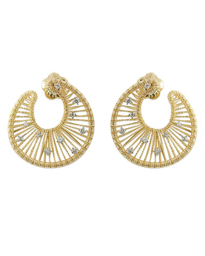 18k Gold Renaissance Swirl Earrings