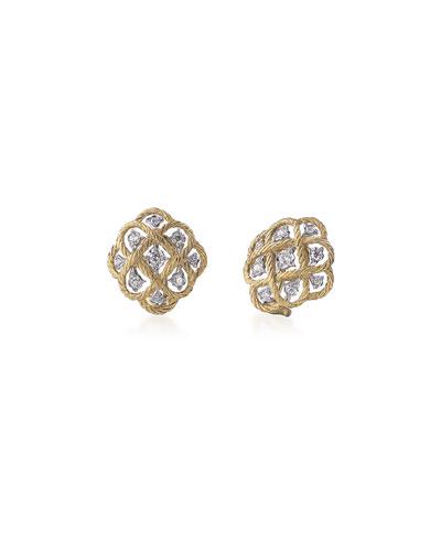 Etoilee Diamond Button Earrings
