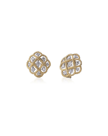 Etoilee Diamond Button Earrings