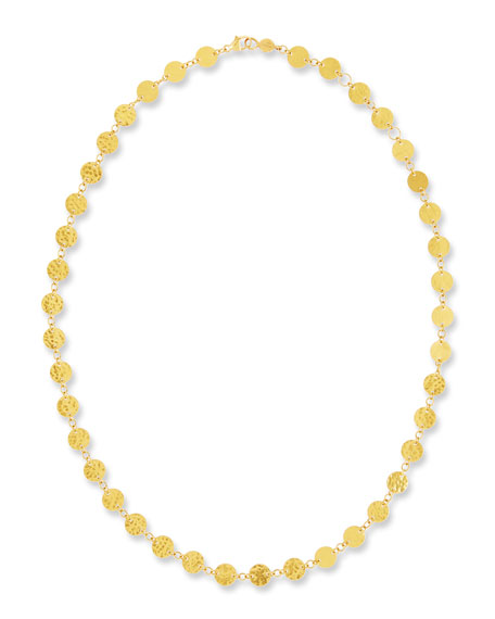 """Single Short Lush Necklace in 24K Gold, 18"""""""