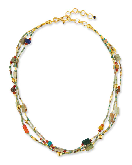 Gurhan Phoenician Beaded Turquoise Necklace, 16??18
