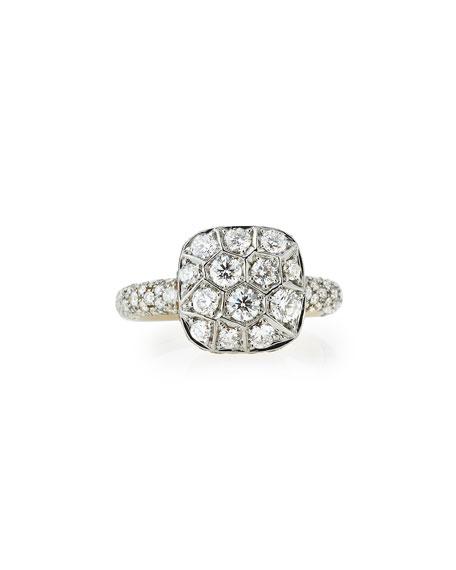 Grande Nudo 18K White & Rose Gold Ring with Diamonds, Size 54
