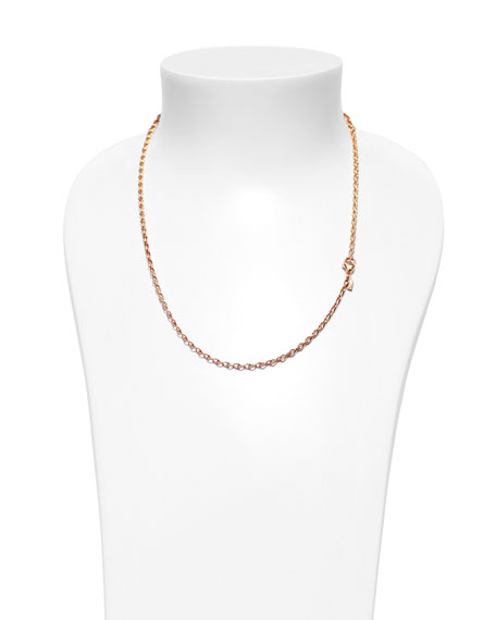 "18K Rose Gold Eight Chain, 20""L"