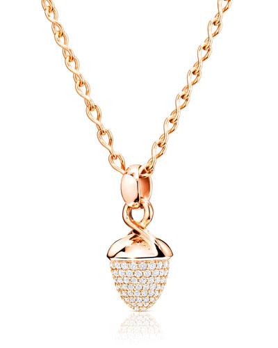Mikado Bouquet Pavé Diamond Pendant Enhancer in Rose Gold