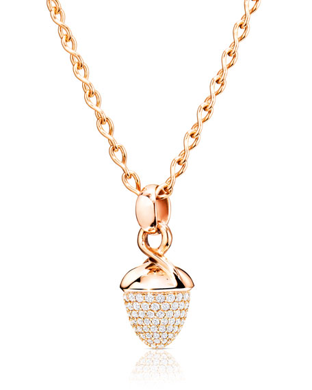 Mikado Bouquet Pavé Diamond Pendant Enhancer in Rose Gold