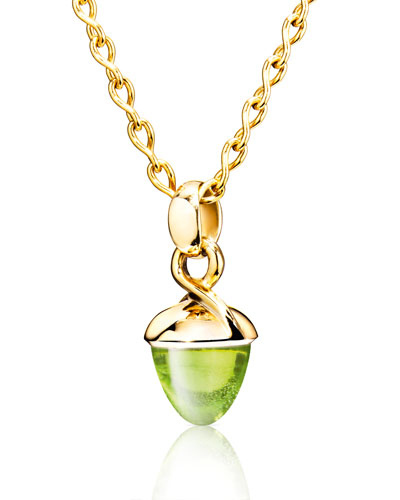 Mikado Bouquet Peridot Pendant Enhancer in Yellow Gold
