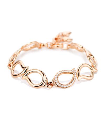 Signature 18K Rose Gold Diamond Bracelet