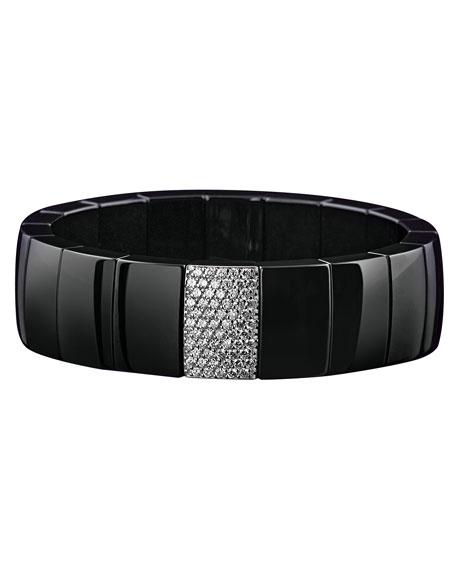 Roberto Demeglio Domino Black Ceramic Stretch Bracelet with
