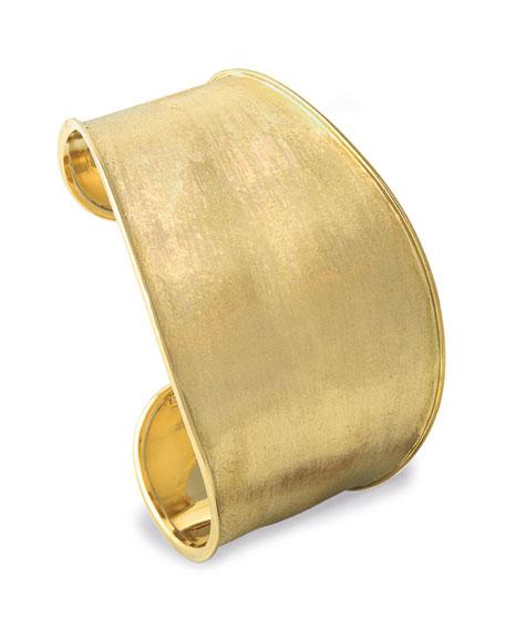 Lunaria Cuff Bracelet in 18K Yellow Gold