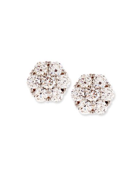 Diamond Flower Cluster Earrings, 1.46 tdcw