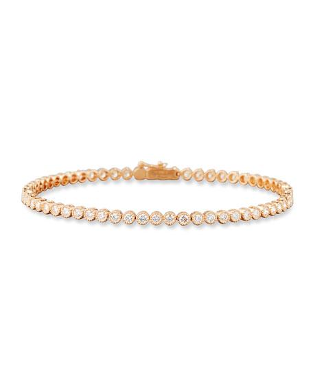 Diamond Line Bracelet in 18K Rose Gold