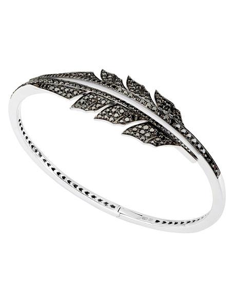 Magnipheasant Black Diamond Bracelet in 18K White Gold