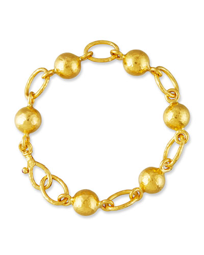 Balloon Ball & Chain Bracelet in 24K Gold
