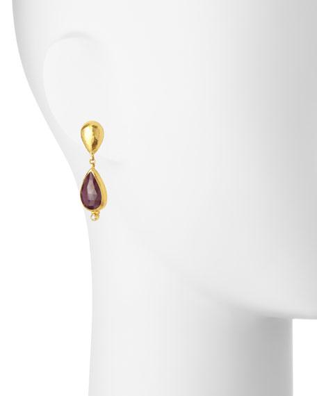 Empress Rose-Cut Ruby Earrings with Diamonds