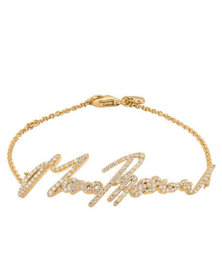 More Passion Pave Diamond Chain Bracelet