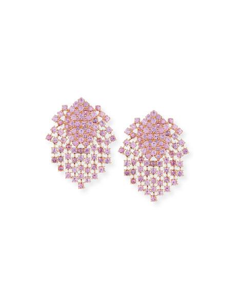 Pink Sapphire Fringe Earrings in 18K Gold