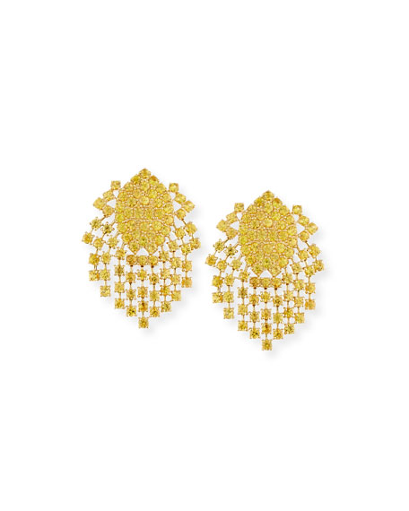 Yellow Sapphire Fringe Earrings in 18K Gold