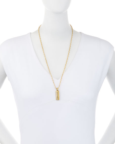The Other Half 18K Gold Pendant Necklace with Champagne Diamonds