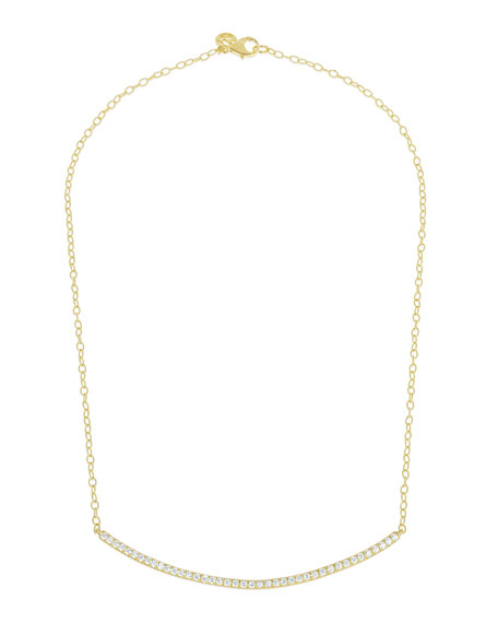 Moderne 18k Diamond Bar Necklace