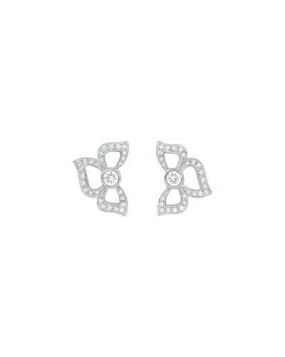 Florette Pave Diamond Stud Earrings