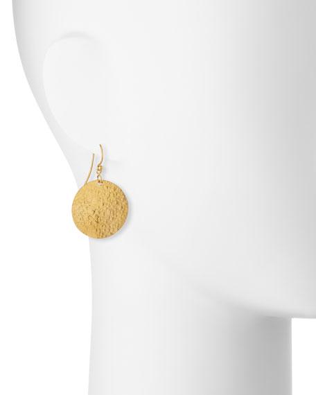 Classic Lush Dangling Flake Earrings in 24K Gold