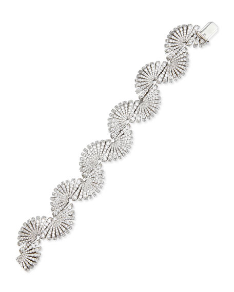 Ventaglio 18k White Gold Diamond Bracelet