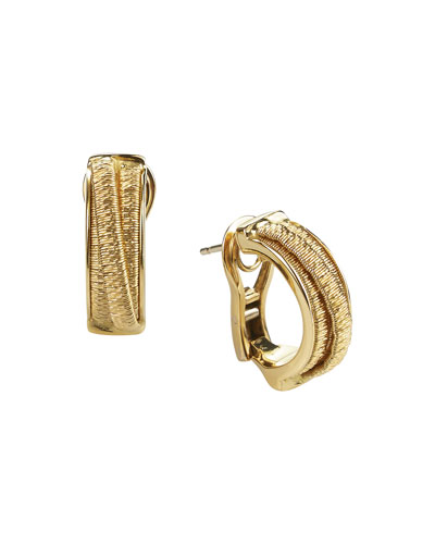 Cairo 18k Gold Small Huggie Hoop Earrings