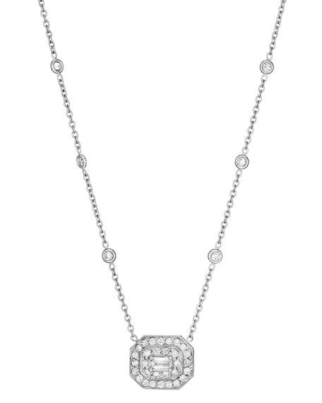 Penny Preville Deco Collection Emerald-Cut Diamond Pendant