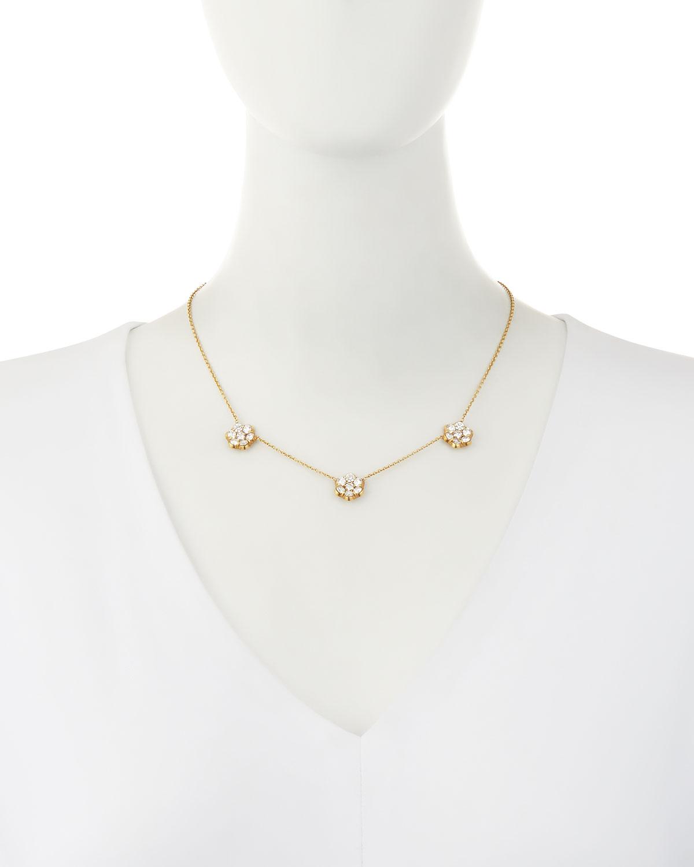 Bayco 18K Gold & Diamond Floral Station Necklace Jc2Zs2WZ