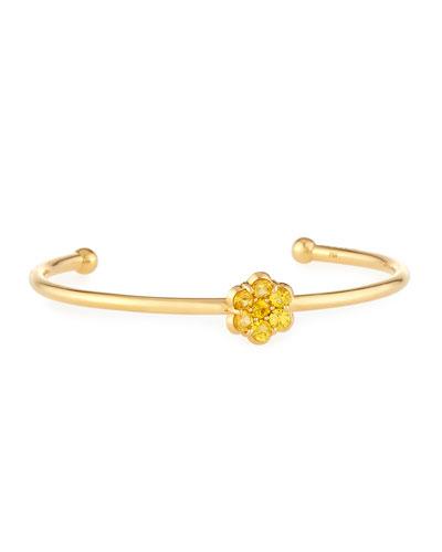 18K Gold & Yellow Sapphire Floral Bracelet