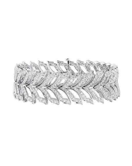 Magnipheasant White Gold Pave Diamond Tennis Bracelet