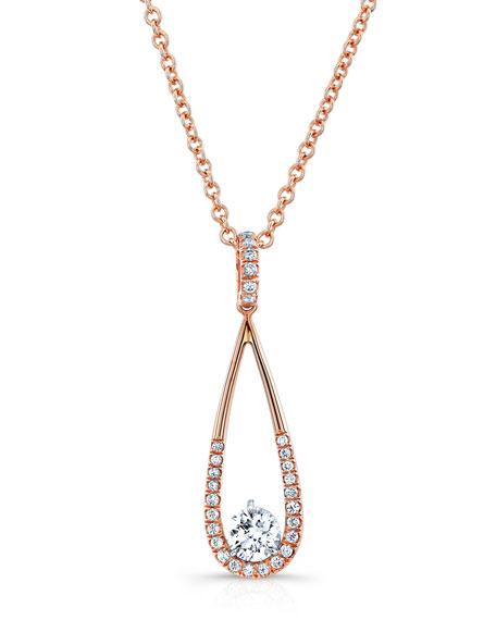 Rahaminov 18K Rose Gold & Open Teardrop Necklace