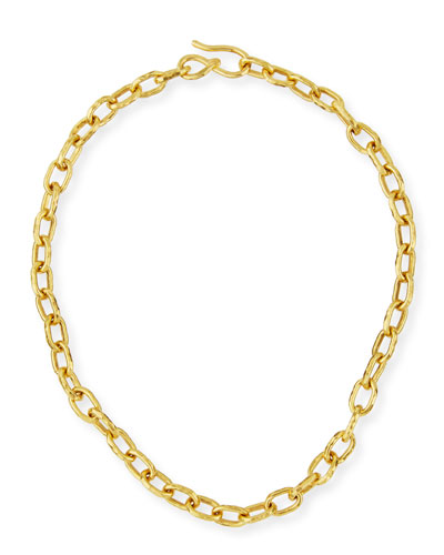 Cadene 22K Gold Link Necklace, 15