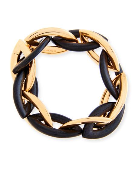 Doppio 18K Rose Gold & Ebony Link Bracelet