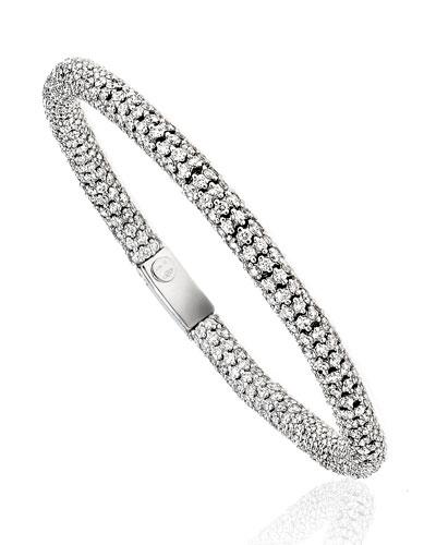 Gioconda Diamond Stretch Bracelet in 18K White Gold, 8.59 tdcw