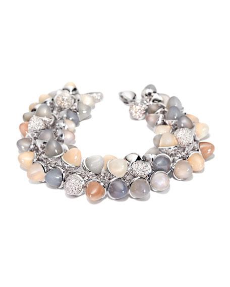 Mikado Diamond & Moonstone Cabochon Bracelet