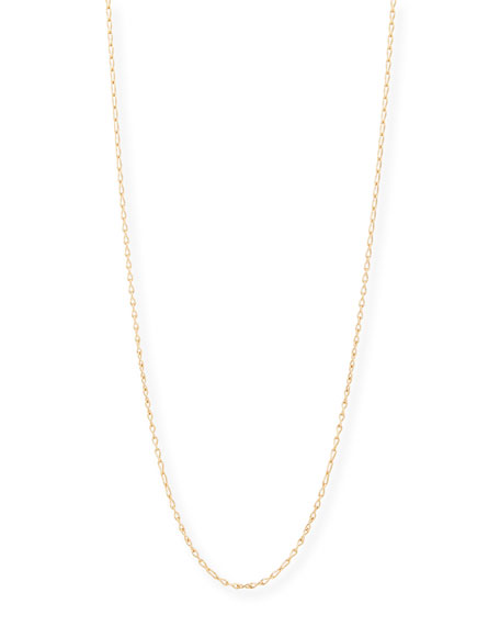 "18K Rose Gold Eight Chain, 35""L"