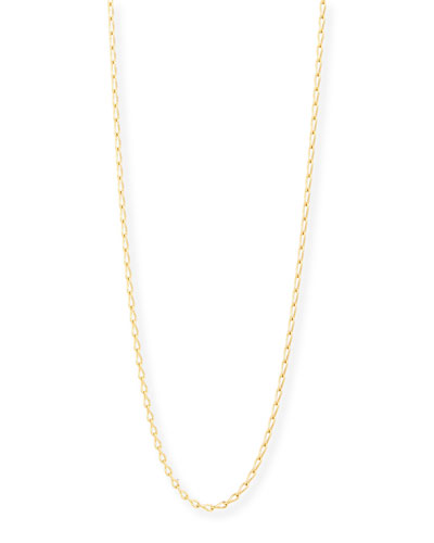 18K Yellow Gold Eight Chain, 35