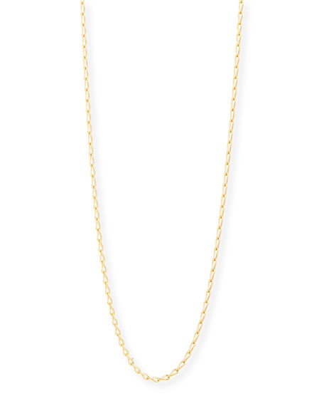"18K Yellow Gold Eight Chain, 35""L"