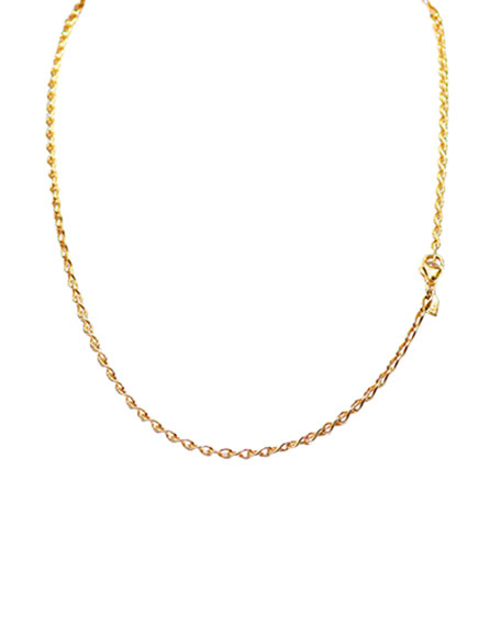 "18K Yellow Gold Eight Chain, 20""L"