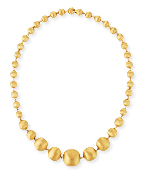 18K Gold Africa Necklace, 17""