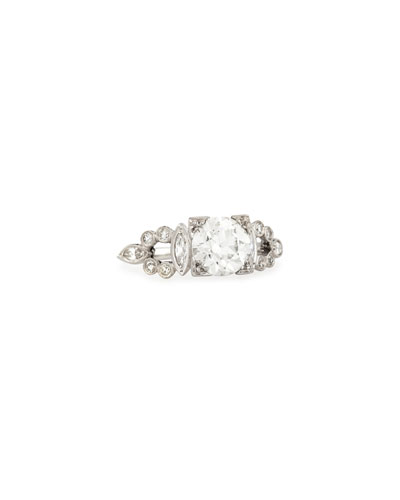 Estate Art Deco Box Diamond Engagement Ring  Size 6.5