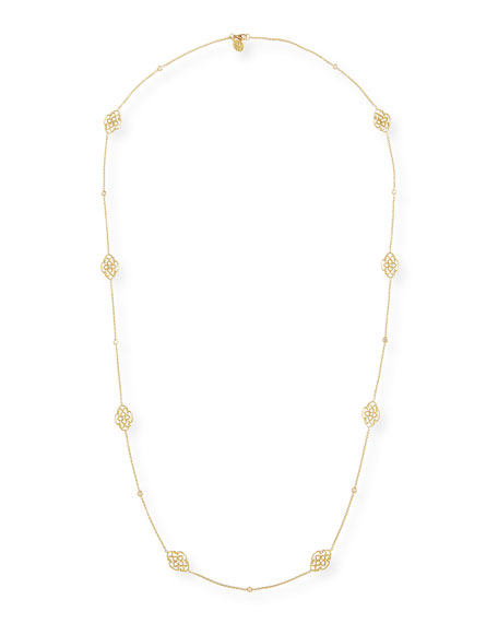 Lace Signature Chain Necklace with Diamonds, 34""