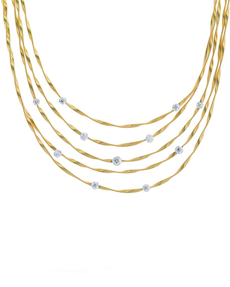 Marrakech Couture Five-Strand Diamond Necklace