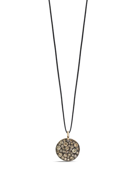 Sabbia 18k Rose Gold & Brown Diamond Pendant