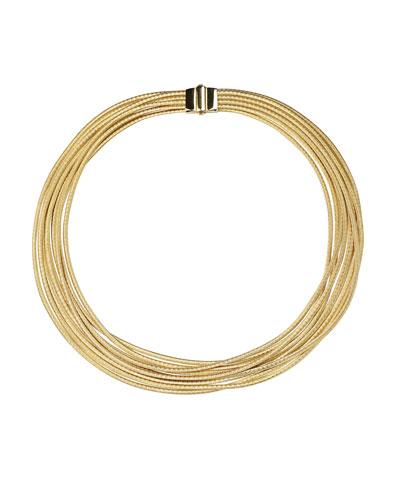 Cairo 18k Gold Nine-Strand Necklace